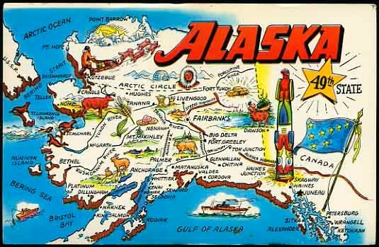 Alaska tourism map may not be drawn entirely to scale – Alaska Tourist Attractions Map