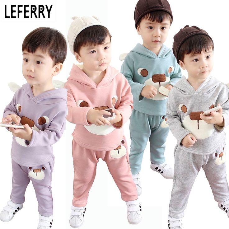 2016 Winter Kids Clothes Boys Girls Clothing Sets Children Clothes Baby Girls Toddler Boys Clothing Boutique Korean Coat + Pants #Affiliate