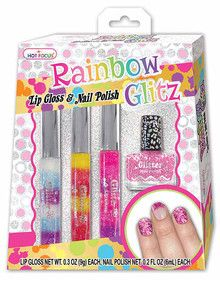 Hot Focus Rainbow Glitz Lip Gloss & Nail Polish product photo