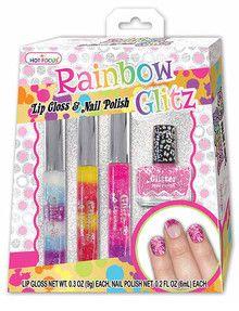 Hot Focus Rainbow Glitz Lip Gloss & Nail Polish product photo