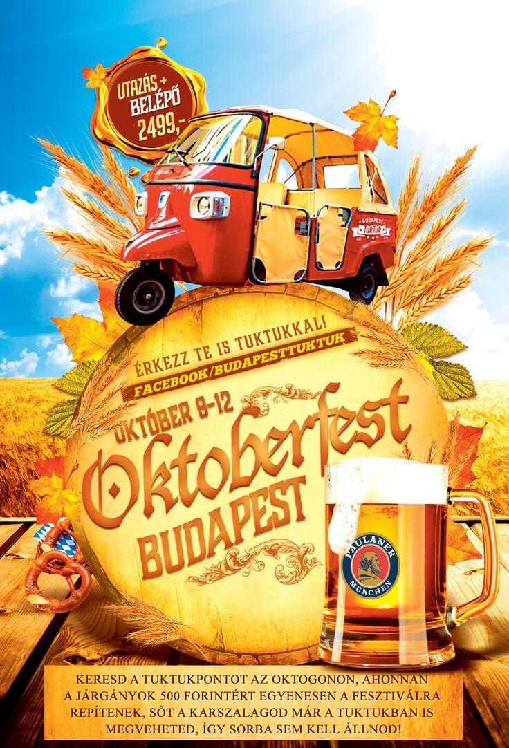 Kipihentük a pálinkázást, irány sörözni!!! Az Oktoberfest Budapest Official ideje alatt a TukTuk-ok jegyekkel feltöltve az Oktogonról egyenesen a bejárathoz repítenek! Info: +36702573020