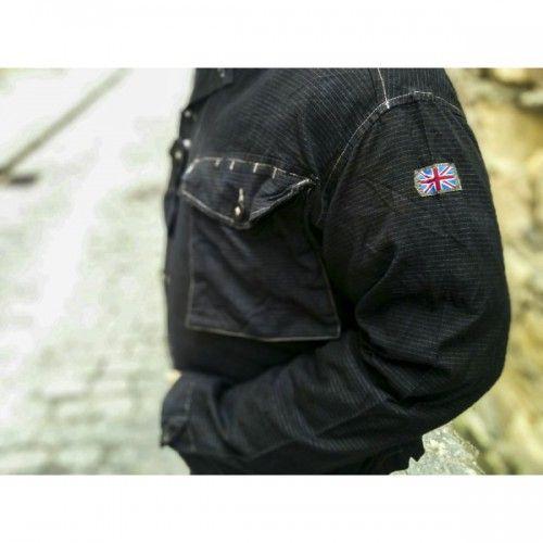 Рубашка армии Великобритании, black DDPM, б\у, продажа армейской одежды, военная форма стран нато, одежда милитари, военное снаряжение недорого, камуфляж б/у, экипировка, Доставка по России, самовывоз в спб Бесплатно, Maximilitary.ru900р