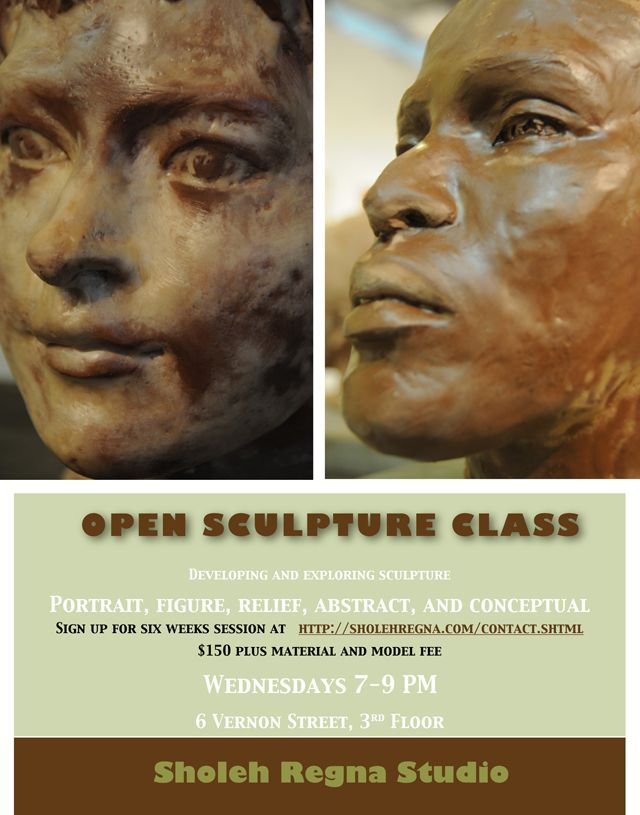 Sculpture Class at Vernon Street with Sholeh Regna in Somerville Ma