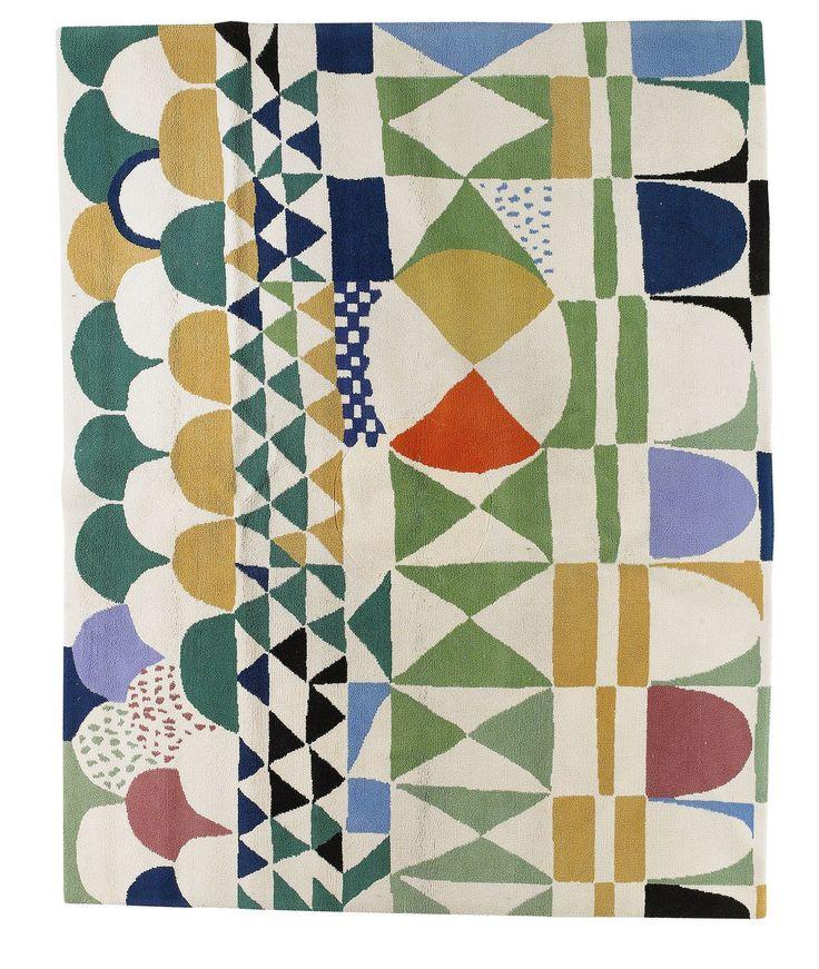 Josef Frank, textile design Bows, 1960. Sweden. Via Cooper Hewitt.