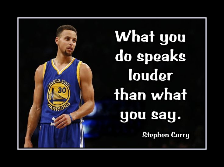 """Basketball Motivation Quote Poster Stephen Curry Golden State Warriors Wall Art 5x7""""- 11x14"""" What You Do Speaks Louder Than What You Say by ArleyArt on Etsy"""