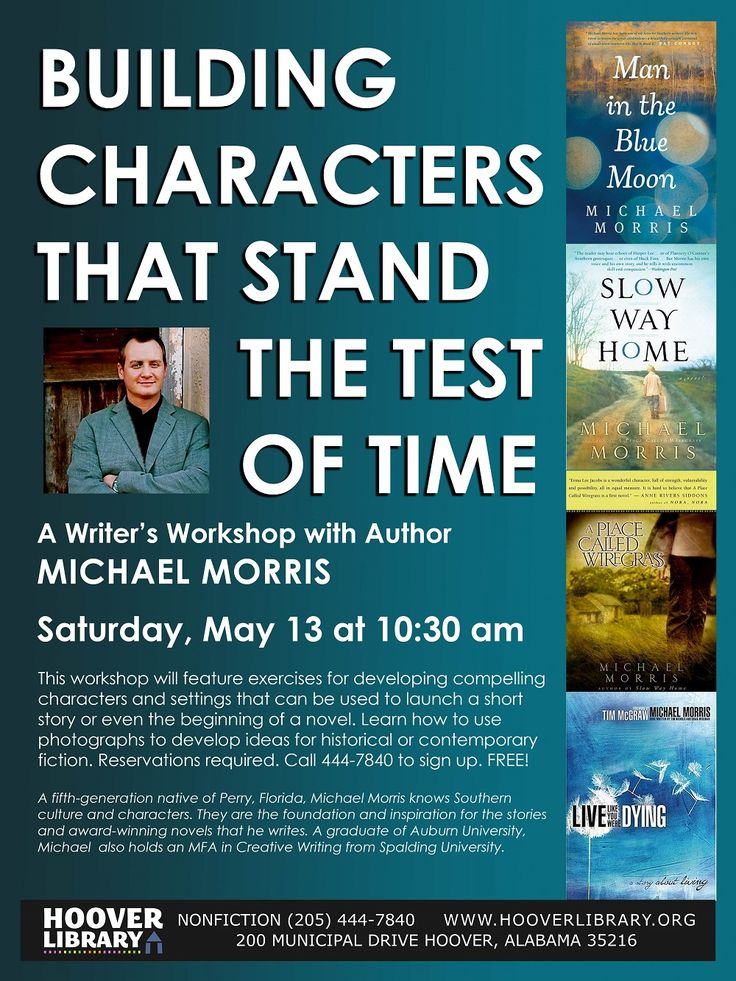 Don't miss out on this writing workshop led by award winning Alabama author Michael Morris!