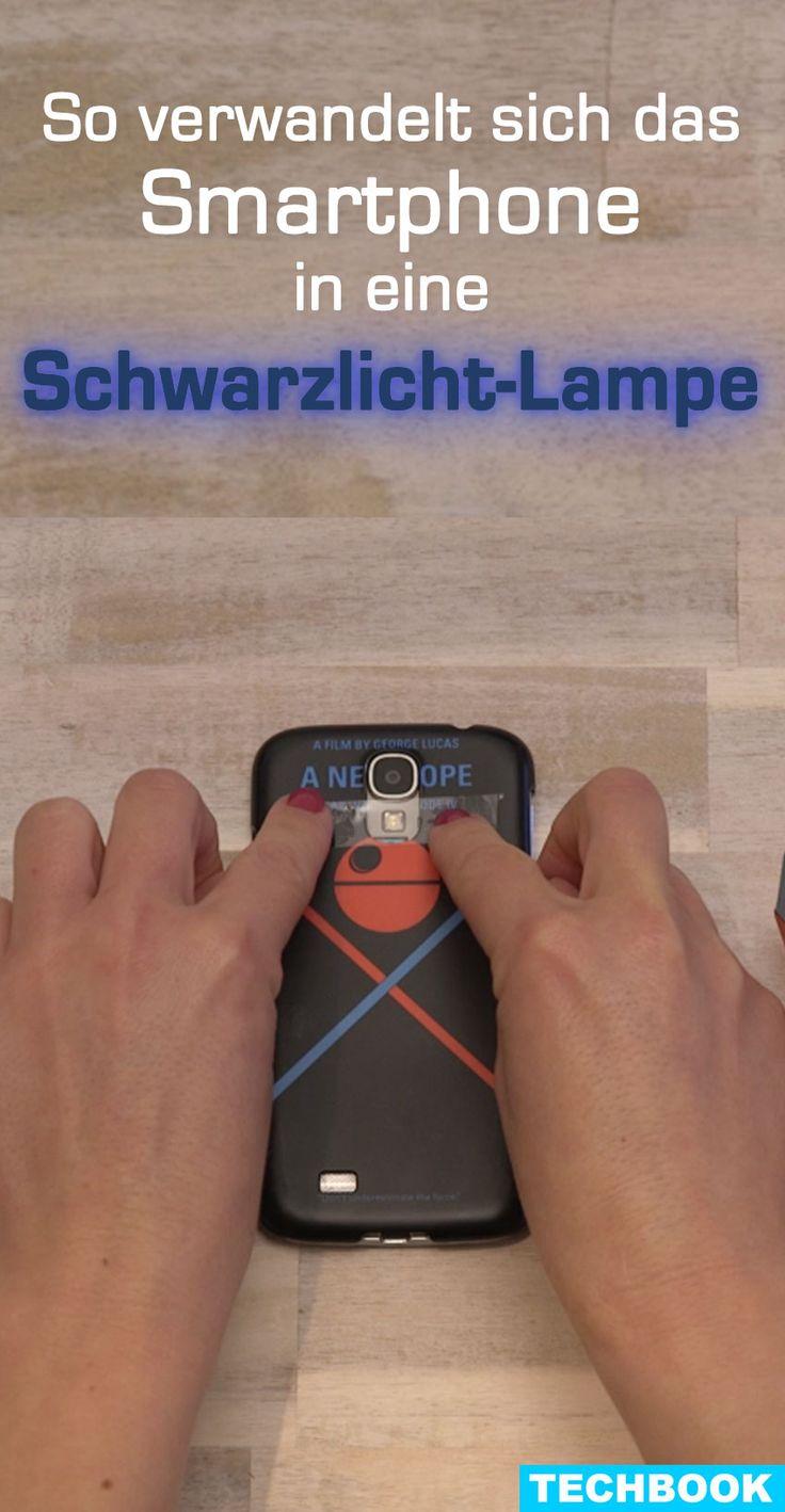 Geheimschrift oder Party-Attraktion – Schwarzlicht kann man für viele Zwecke verwenden und löst bei vielen Menschen einen Wow-Effekt aus. TECHBOOK zeigt, wie Sie die Taschenlampe Ihres Smartphones in eine Schwarzlicht-LED verwandeln.