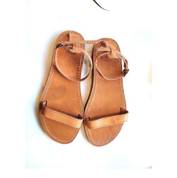 New design greek leather sandals women flat by PennyHandmade, $44.00