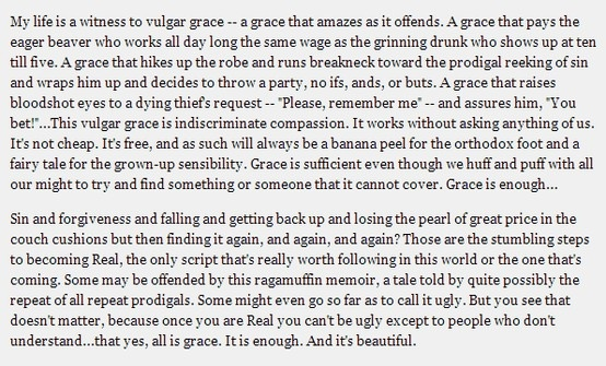 Brennan Manning, from All is Grace