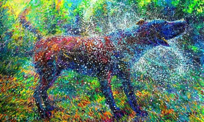 Artists Uses Fingers To Create Beautiful Paintings