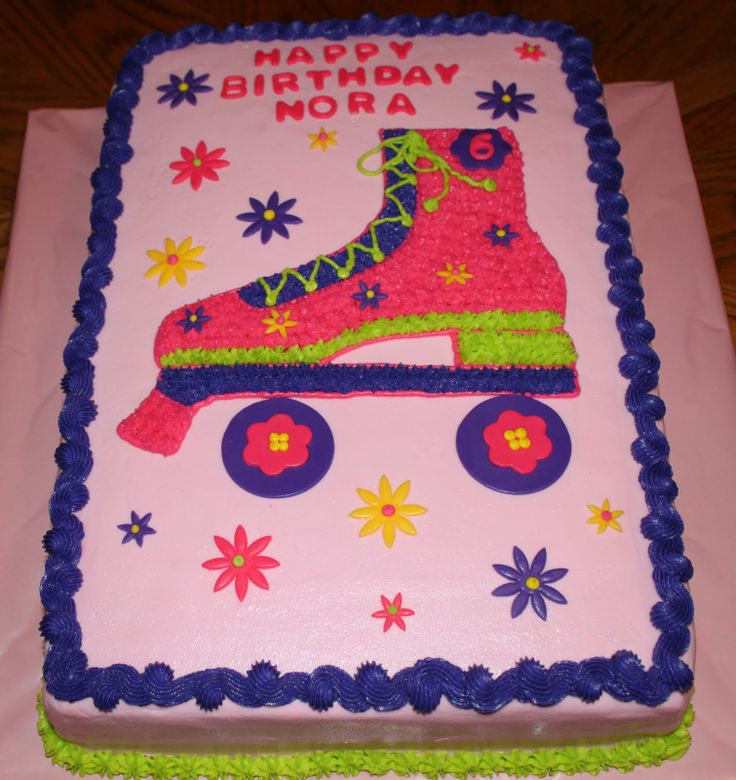 275 best Roller Skates Cakes and Cupcakes images on Pinterest