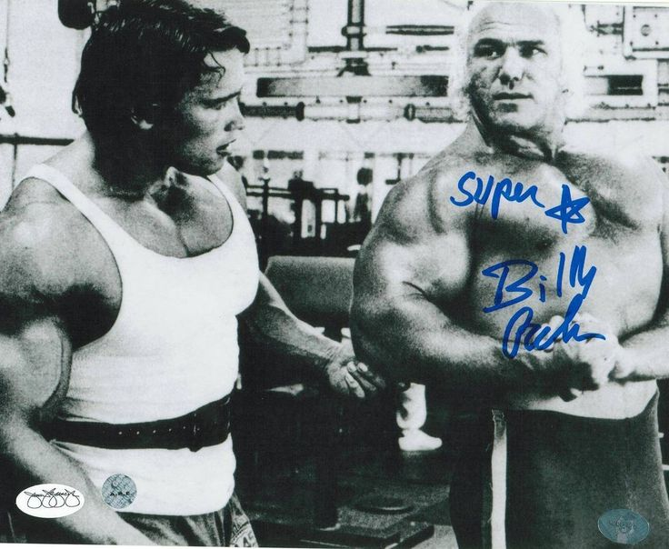 Superstar Billy Graham WWF Autographed 8x10 Photo -Talking to Arnold-