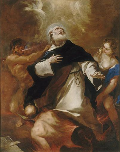 "Saint Dominic Rises Above the Human Passions - Luca Giordano      ""The man who governs his passions is master of his world. We must control or be enslaved by them. Better to be a hammer than an anvil. ""      - St. Dominic"