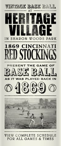 The 1869 Cincinnati Red Stockings.In 1881 the Reds were thrown out of the National League for selling beer at the ballpark and allowing games to be played at their ballpark on Sundays.