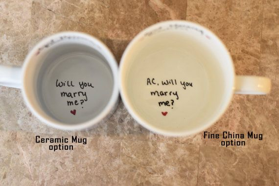 Will You Marry Me Mug Unique Proposal by SomethingBlueBridals