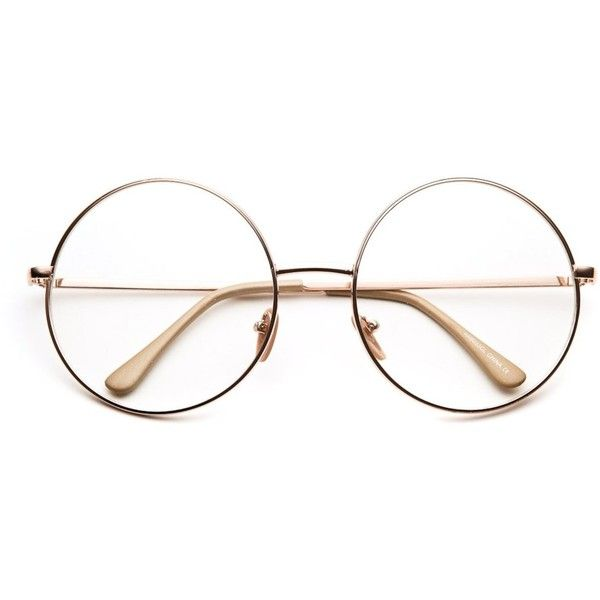 Noir Zero Oversized Round Clear Lens Glasses (12 CHF) ❤ liked on Polyvore featuring accessories, eyewear, eyeglasses, glasses, sunglasses, fillers, round lens glasses, 80s glasses, oversized round glasses and oversized eyeglasses