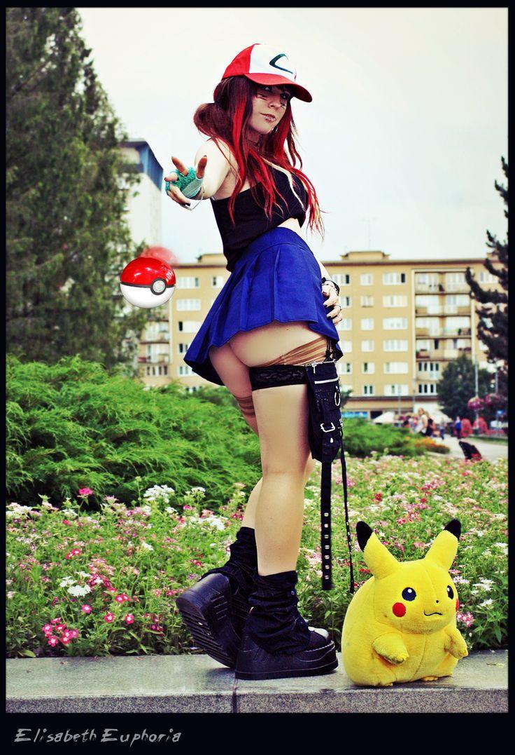 SeXy Ash Ketchum Pokemon cosplay, Elisabeth Euphoria