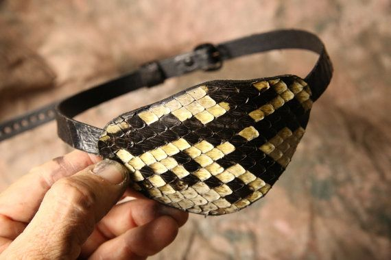 Leather Eyepatch  Pirate Eyepatch  Pirate by ArmadilloLeather