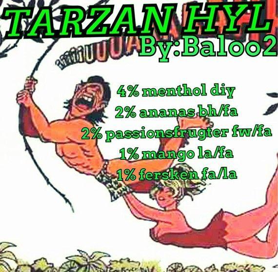 <b>Tarzan hyl</b><br /><b>Baloo2</b> har tilladt at vi må bruge hans opskrifter.