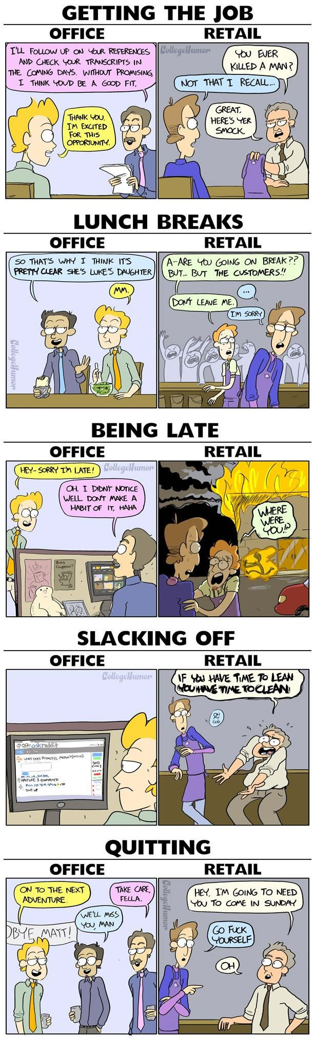 best ideas about retail sucks workplace office vs retail jobs