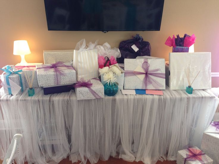 Gift Table Wedding Ideas: Bridal Shower Gift Table