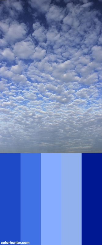 Clouds In Sky Color Palette