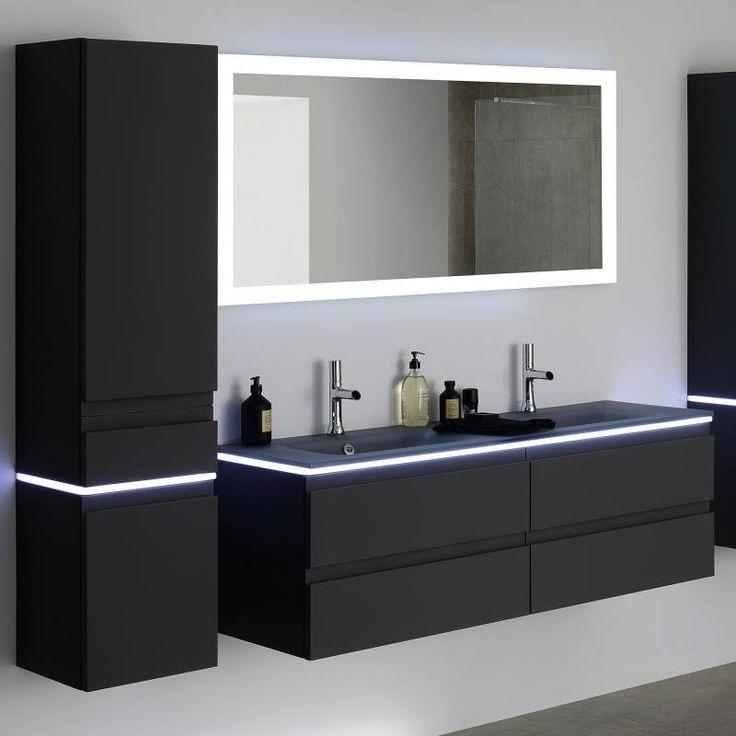 Colonne salle de bain Halo laquée grise