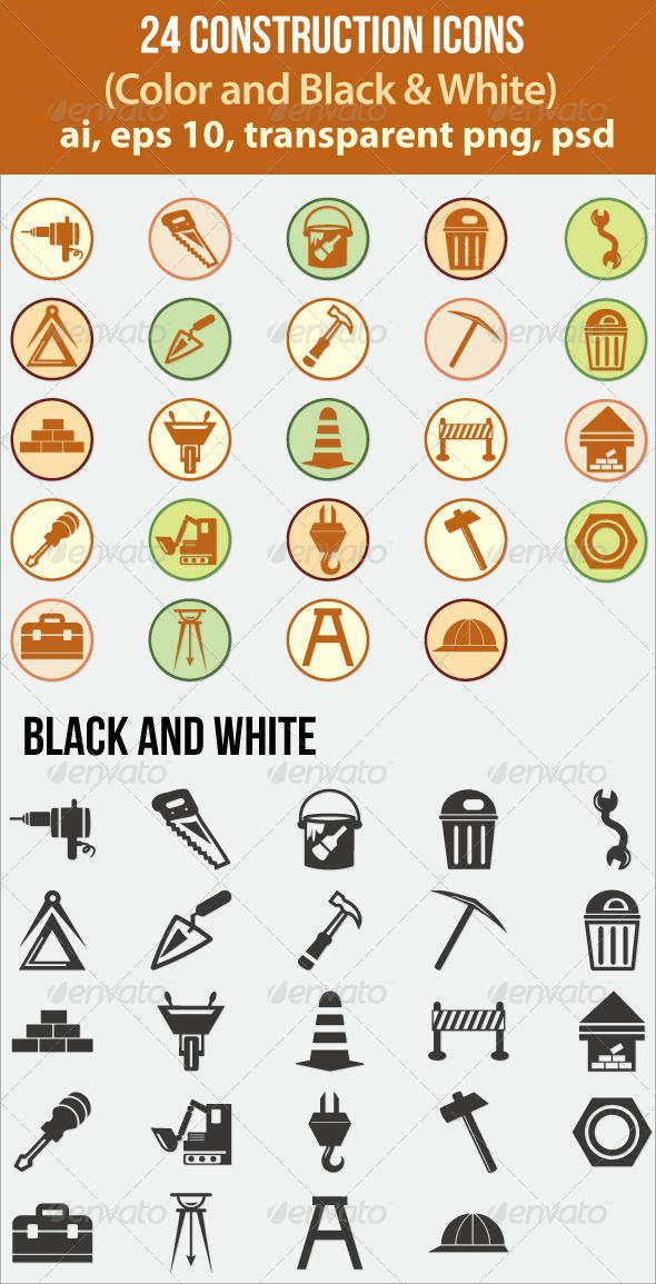 24 Construction Icons - Icons