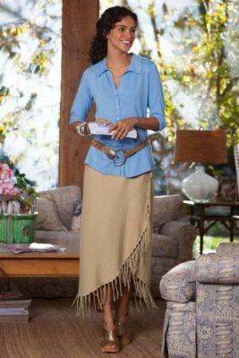 Sydney Wrap Skirt - Jersey Knit Skirt, Wrap Skirt, Long Skirts | Soft Surroundings