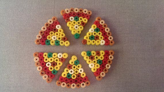 Hama and Perler Beads Pizza by FortheloveofJags