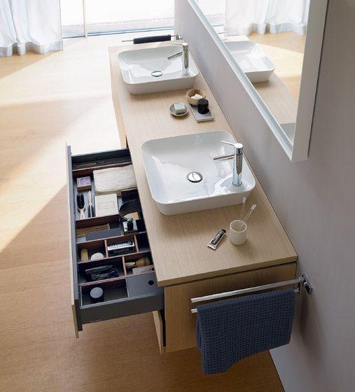 ... bagno sospeso L-Cube - finitura legno - Mobili arredo bagno design