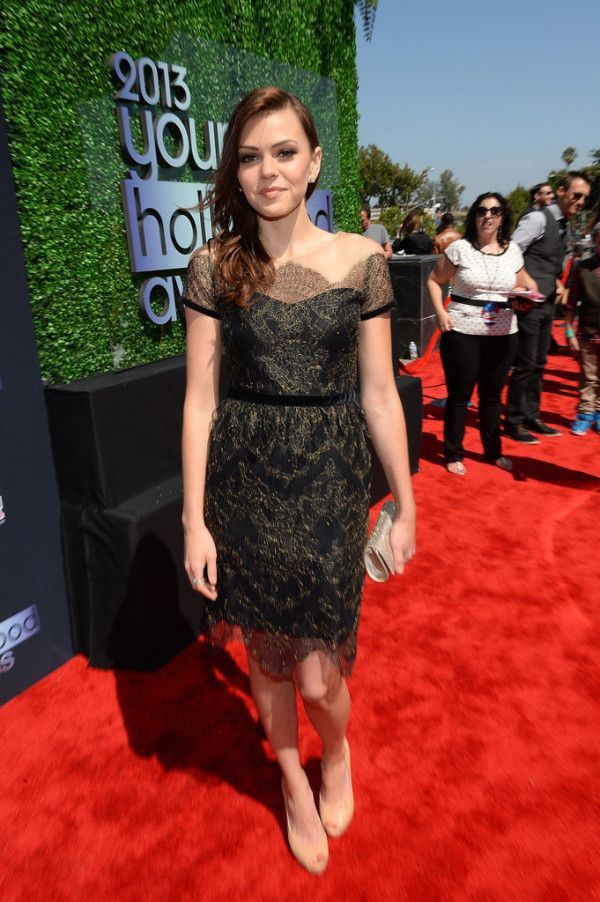 Aimee Teegarden Wearing Notte by Marchesa - 2013 Young Hollywood Awards