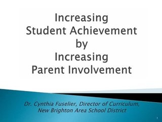 parent-involvement-presentation by New Brighton School District via Slideshare