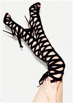 sexy thigh high black boots