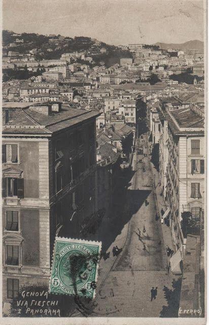 C'ERA UNA VOLTA GENOVA : 1910, Via Fieschi http://ceraunavoltagenova.blogspot.it/