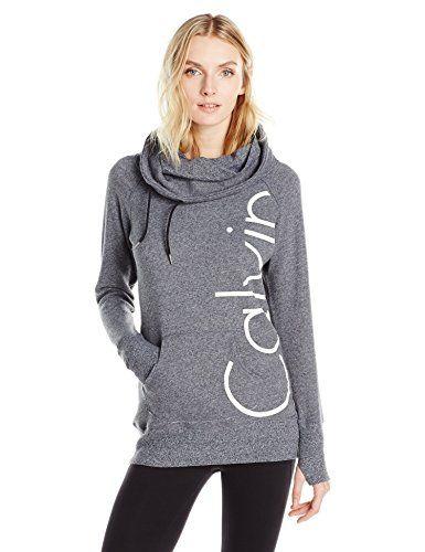 Calvin Klein Performance Women's Funnel Neck Sweatshirt #hoodies #sweatshirts #activewear #sweaters #calvinklein #womensapparel #womenssweater #womenwithstyle