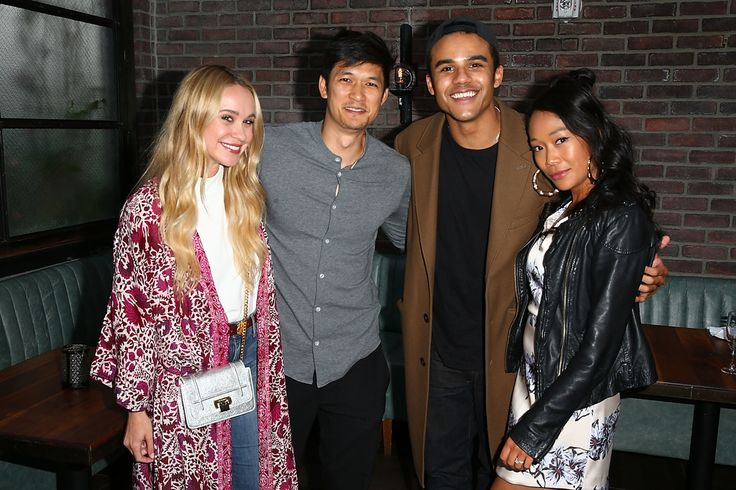 Becca Tobin, Harry Shum Jr., Jacob Artist, and Shelby Rabara attend the Gilt & Sherpapa Supply Co. Launch Event on May 31, 2017