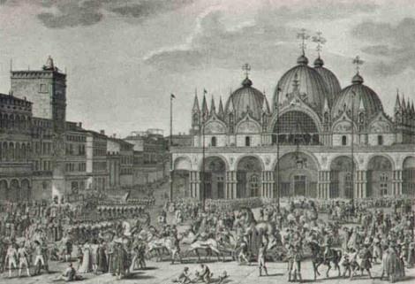 www.PilociWycieczek.pl - Doża i jego pałac Z ciekawych blogów - relacja z Wenecji wraz z historycznym przeglądem wydarzeń z 14 maja 1797, dnia ostatecznego upadku Republiki Weneckiej. Polecam ten i inne wcześniejsze ciekawe wpisy na temat Wenecji z bloga Laudate.