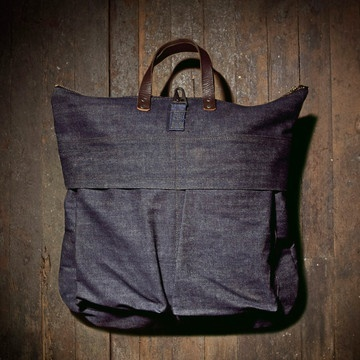 Helmet Army Bag Denim /  Unions of Smith http://media-cache2.pinterest.com/upload/35747390762370732_OtQ3eI6I_f.jpg jchongdesign carry on