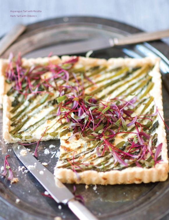 Recipe - Asparagus Tart with Riccotta Herb and Chives Tonight's dinner served with a salad!