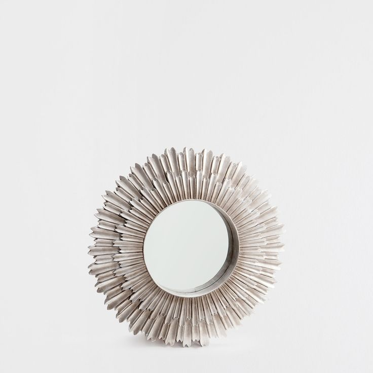 resin sun mirror mirrors decoration zara home spain