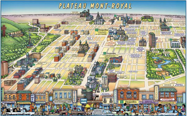 Plateau Mont-Royal Map - montreal • mappery