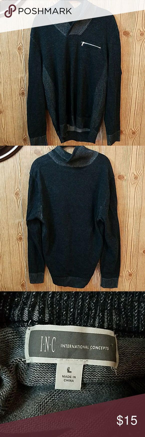 ?INC International Concepts Sweater? Gray INC International Concepts Shawl Collar Sweater INC International Concepts Sweaters V-Neck