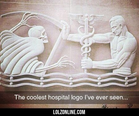 The Coolest Hospital Logo I've Ever Seen...#funny #lol #lolzonline