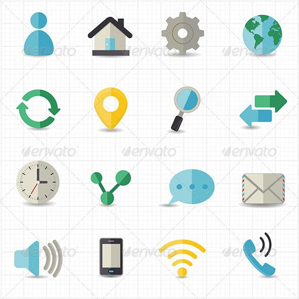 Web and Internet Icons ...  business, communication, computer, connect, connection, contact, contract, download, email, flat, flat icons, home, icons, interface, internet, internet icons, link, magnifying, media, mobile, network, refresh, search, sharing, social, telephone, user, web icons, wireless