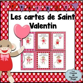 Here are some cute Valentine's Day cards, in French. They feature an adorable sock monkey! Print, cut out and hand to students on Valentine's Day or photocopy the black and white ones for your students to colour and pass out!*****************************************************************************Please take a look at some of my other fun Valentine themed products!Valentine's Day Resources in FrenchYou may also be interested in other Winter themed products, available in my…