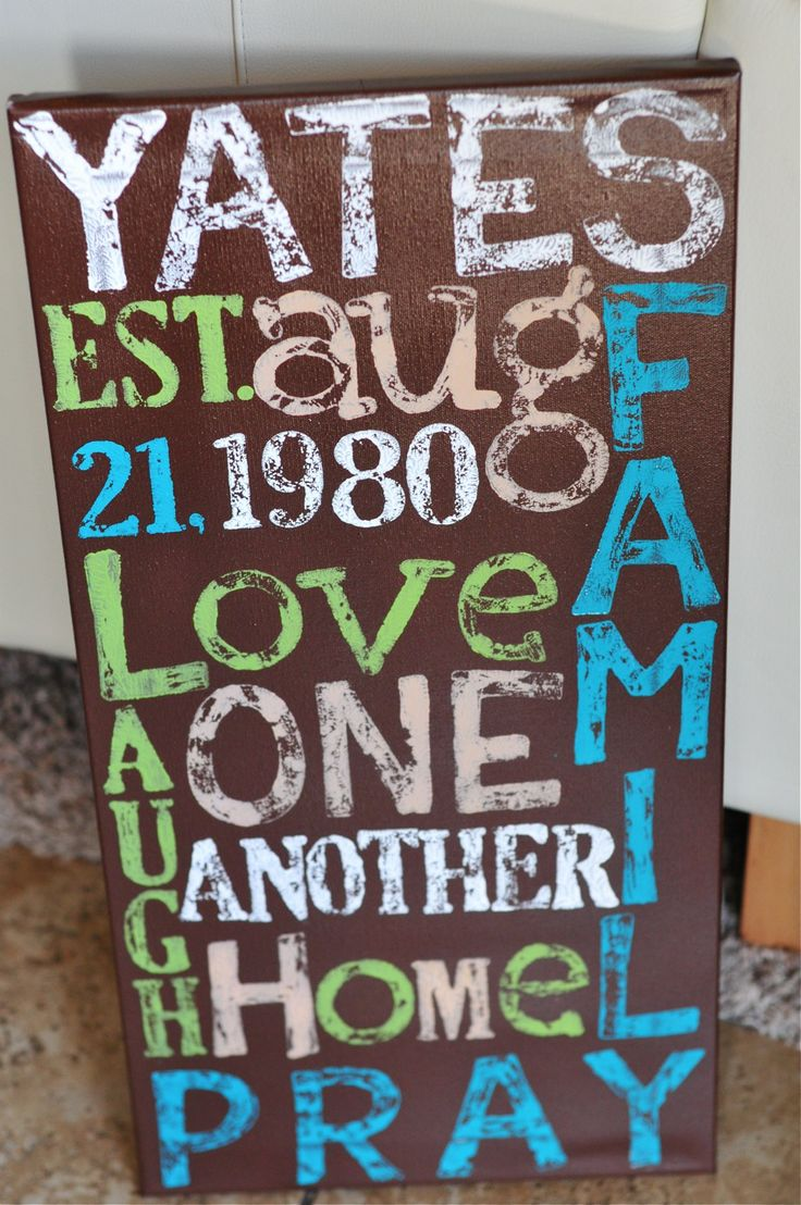 Another great DIY canvas idea. Great for a gift!
