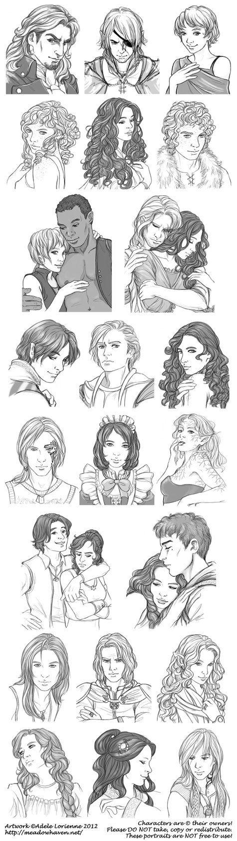 Digital Sketch Commissions -Round Four by Saimain.deviantart.com on @DeviantArt