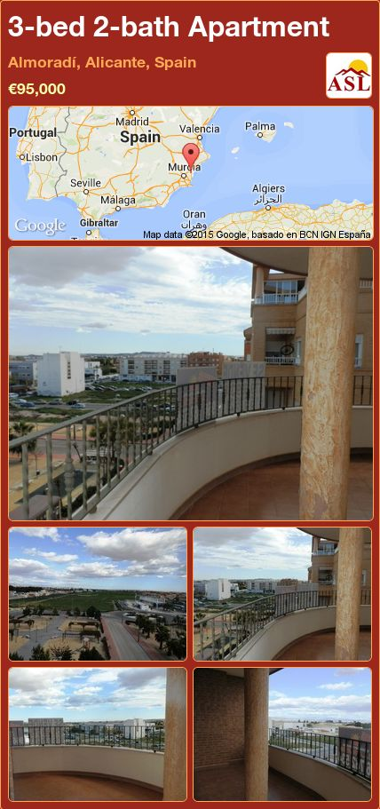 3-bed 2-bath Apartment in Almoradí, Alicante, Spain ►€95,000 #PropertyForSaleInSpain