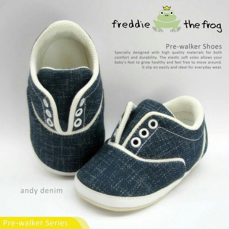 #Sepatu freddie the frog (Andy denim) ~ 90ribu. Ukuran Sol : No. 3 = 11 cm (untuk umur sekitar 0-6 bulan-) No. 4 = 11.5 cm (Sekitar 6-9bulan-) No. 5 = 12 cm (Sekitar 9bln-1 tahun-)